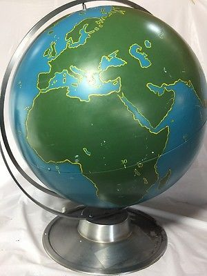Vintage-A-J-Nystrom-22-034-Military-aviation-training-world-globe-Aeronautics-map