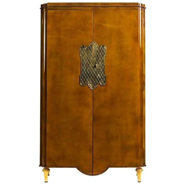 French Midcentury Lacquered Armoire 'Andre Arbus - Gilbert Poillerat' | From a unique collection of antique and modern wardrobes and armoires at https://www.1stdibs.com/furniture/storage-case-pieces/wardrobes-armoires/