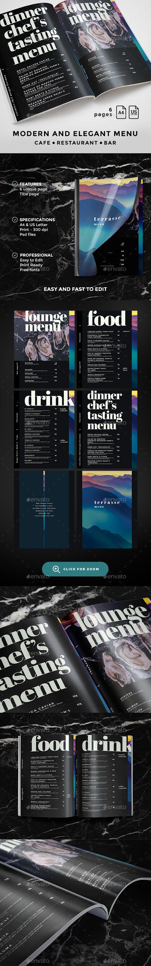 20 best menukarte images on pinterest food menu template print