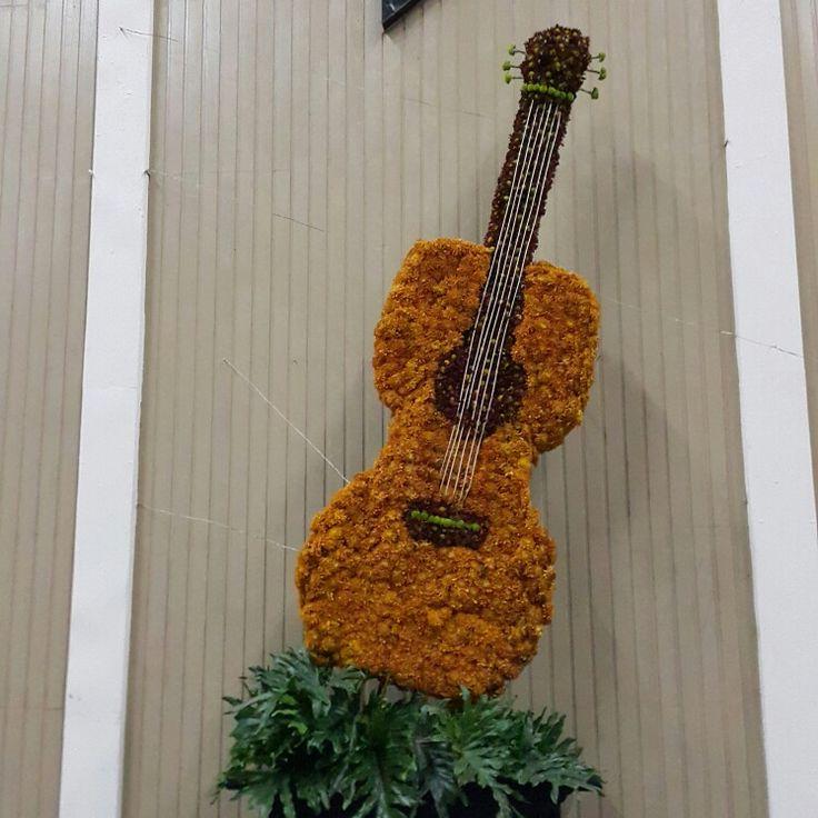 Guitar shape arrangement