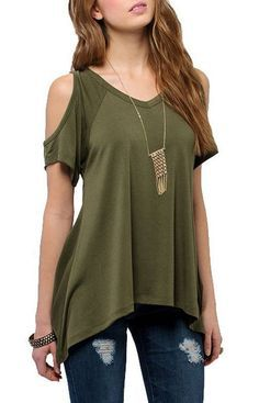 Cold Shoulder Top -  5 Colours. Free shipping.