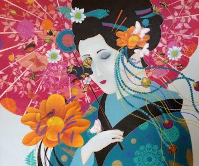 """Lady of Enchantment"" by Cheryl Petersen www.tuskgallery.com.au"