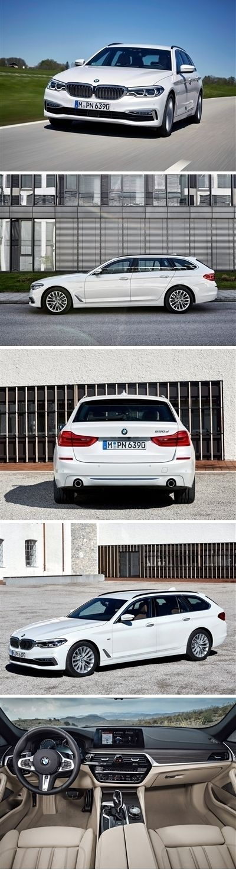 BMW 5-Series Touring 2018 #posters #printcarposter