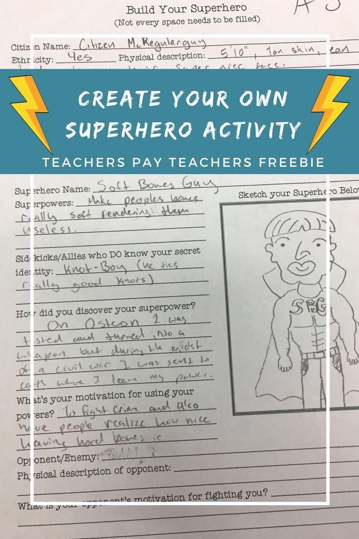 medium resolution of Create Your Own Superhero Worksheet   Create your own superhero