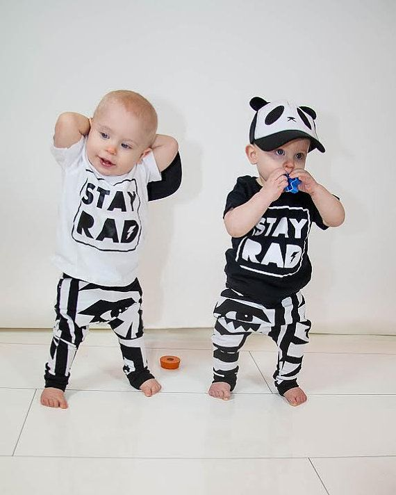 toddler boy baby boy hipster clothing stay rad by Our5loves