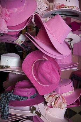 Pink Hats at the Pink Roadhouse, Oodnadatta.