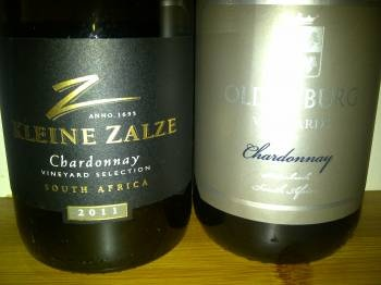 Kleine Zalze Vineyard Selection Chardonnay 2011 vs. Oldenburg Chardonnay 2011