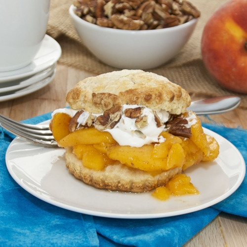 Peach Shortcakes with Bourbon Whipped Cream | Recipe