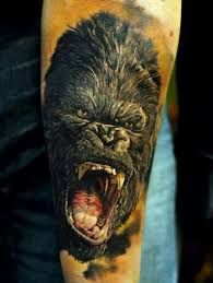 Image result for angry silverback gorilla tattoos