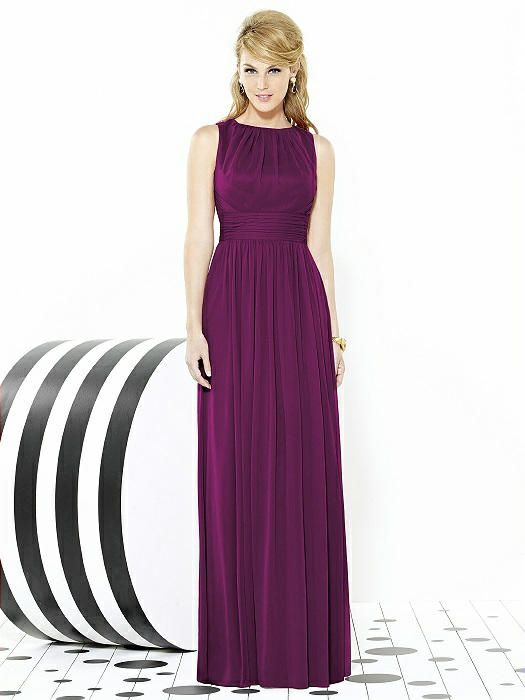 $240 Wildberry. After Six Bridesmaids Style 6709 - Pantone Honeysuckle | The Dessy Group