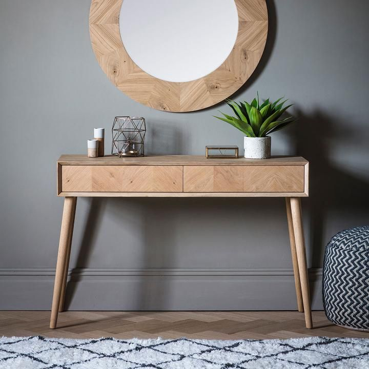 Peachy The Modern Light Oak 2 Drawer Console Table On Trend Gmtry Best Dining Table And Chair Ideas Images Gmtryco