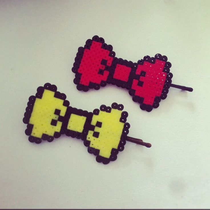 Bows for your hair, made of mini beads :)