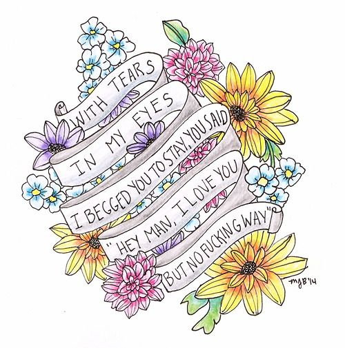 25 best ideas about Song Lyric Tattoos on Pinterest