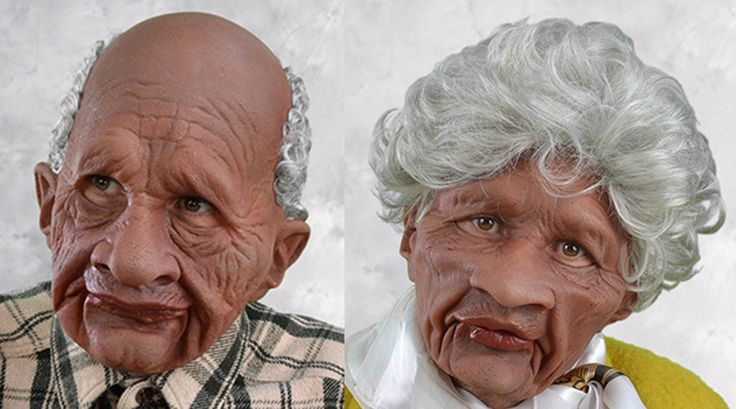 2 New masks, Old Supersoft Black Man and Supersoft Old Black Woman masks with attached hair. Special latex masks with attached hair New supersoft latex formula developed by a US manufacturer allows movement in the face that was only available in expensive movie appliances until now. | eBay!