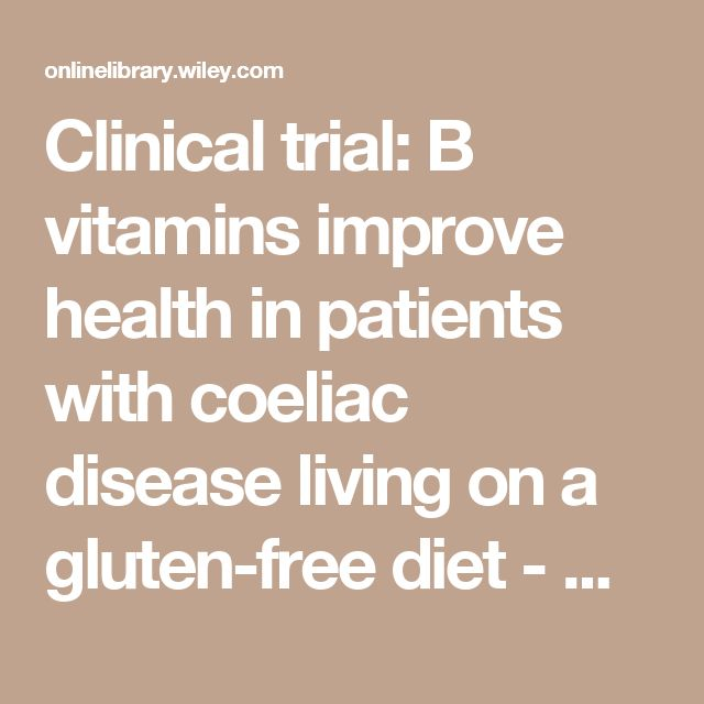 Clinical trial: B vitamins improve health in patients with coeliac disease living on a gluten-free diet - HALLERT - 2009 - Alimentary…