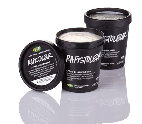 Rafistoleur - Après shampoing réputé'  Le melon cantaloup aux vertus nutritives et adoucissantes s'allie au yaourt bourré de protéines et aux huiles raffermissantes de jojoba et d'olive pour fournir à vos cheveux un super traitement, pendant que les absolus de feuille de violette et de fleur d'oranger se chargent de les parfumer.