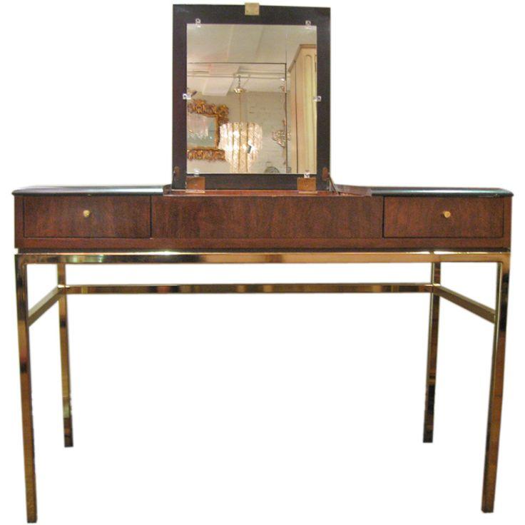 drexel bedroom set%0A Black and Rosewood Wood Vanity   Desk  by Drexel