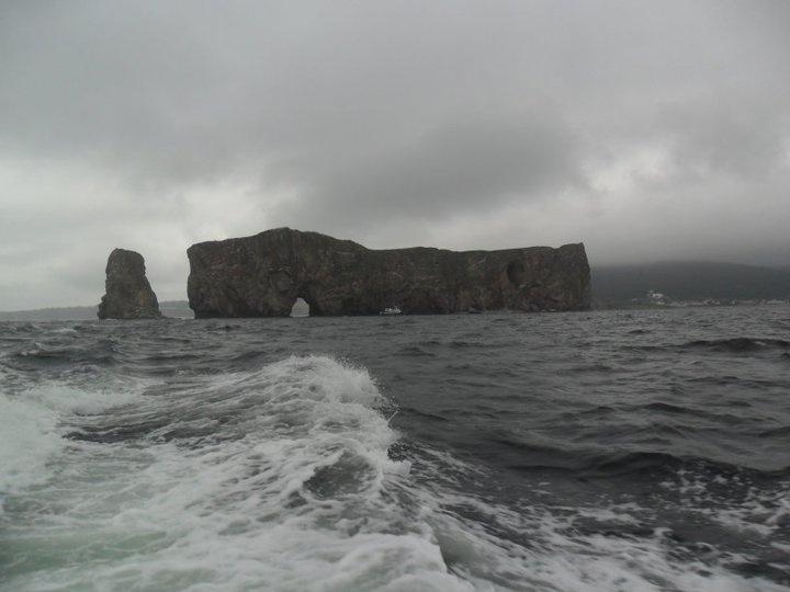 Roché percé, Gaspésie