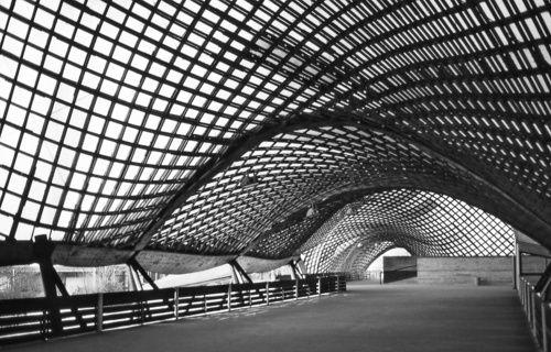 Frei Otto, Multihalle, Bundesgartenschau Mannheim, 1975