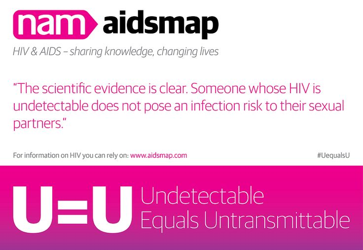 Know the facts about #HIV risk.When we are undetectable on treatment we #cantpassiton to our sexual partners #UequalsU.