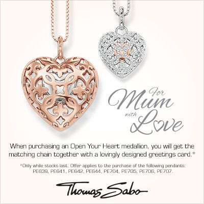 MD 2015 - buy the heart pendant and receive a complimentary chain #JFJ