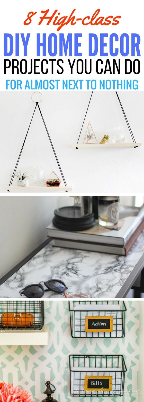 The BEST diy home decor projects you can do for CHEAP! Fun way to fill up your weekend while having fun and making your home look great.