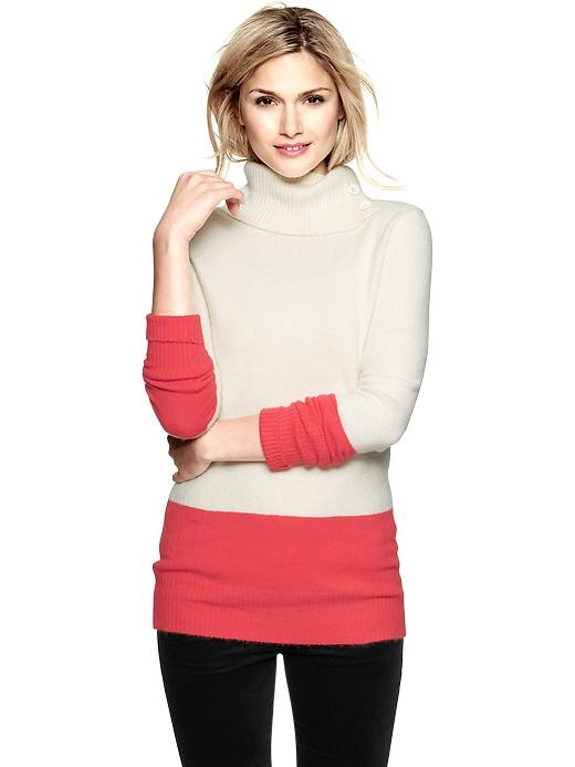 Gap Colorblock Turtleneck Sweater