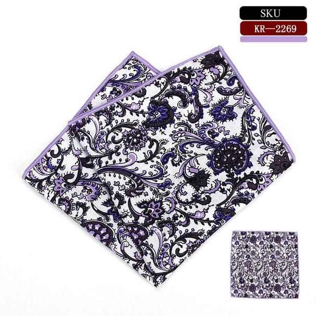 Men's Handkerchief /100% Cotton Pocket Square Floral