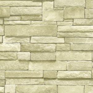 We're liking this look for our den. This is stone wallpaper. It's also available in natural stone and stone veneer.