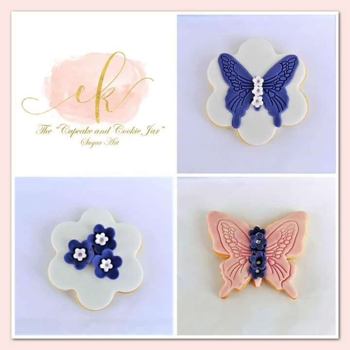 Butterfly cookie set made for a baby girl's christening!