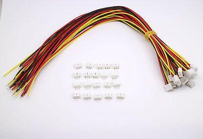 Venta Directa de la Fábrica caliente 20 SETS Mini Micro JST PH 2.0 Conector de $ number Pines enchufe con Cables de 300 MM