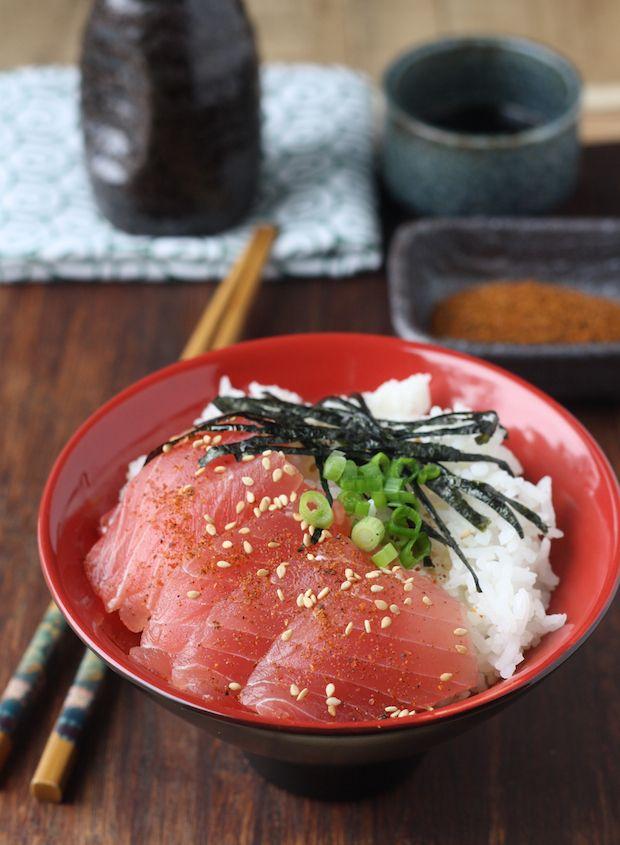 Tuna Sashimi Rice Bowl with Japanese Seven Spice (Tekkadon)