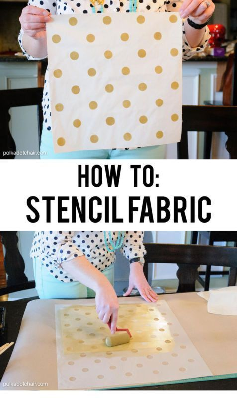 How to Stencil Fabric | eBayLearn How to Stencil Fabric to make custom printed fabrics, draperies, rugs, pillows and more | eBay [ad]