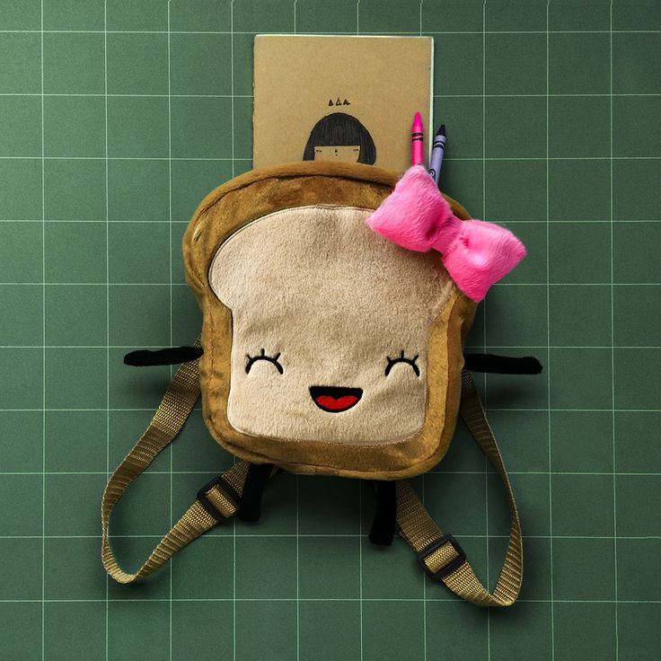 Lovely Mrs. Bread Slice backpack 20x20x8 cm Get This on Etsy!