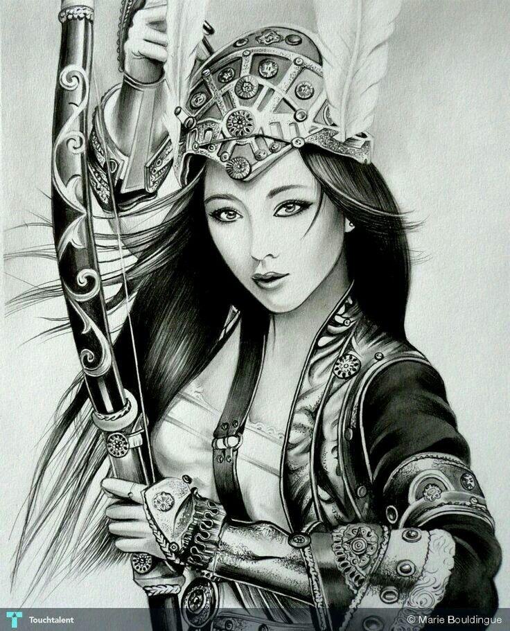 17 migliori idee su tatuaggio samurai su pinterest arte for Female samurai tattoo