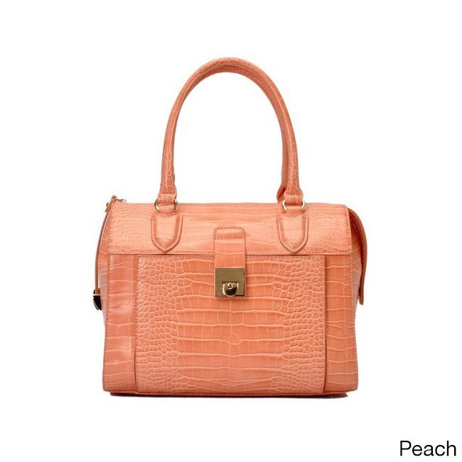 Oasis Handbag 'Essie' Glossy Pattern Satchel Bag