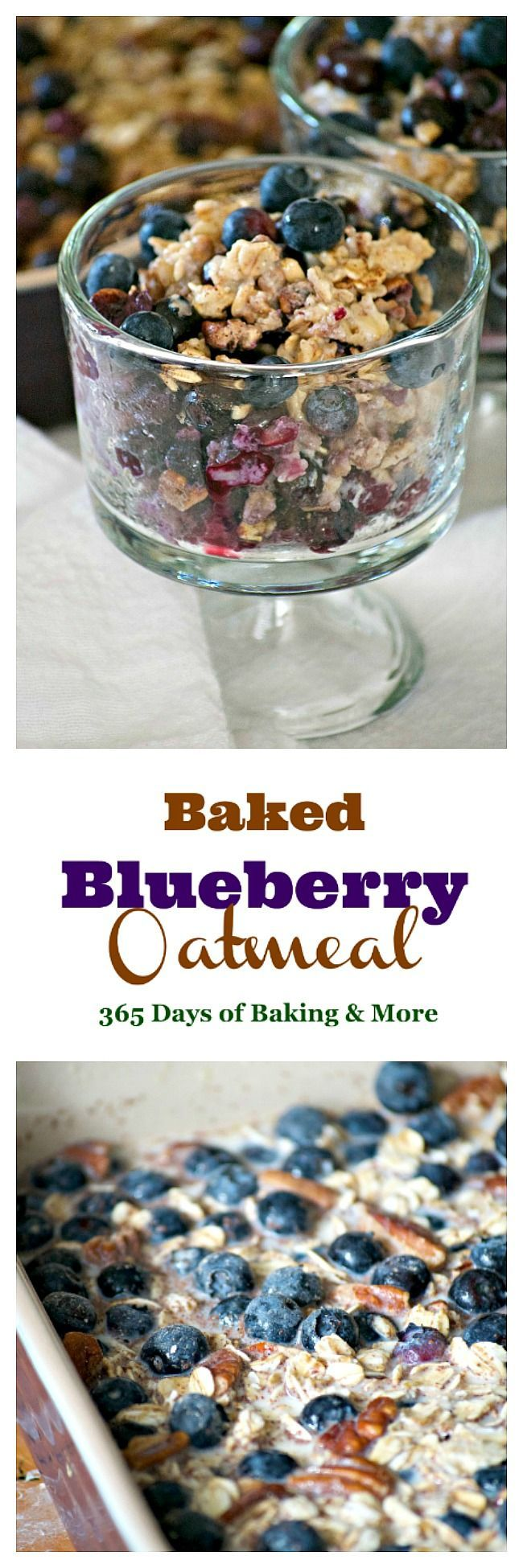 This Baked Blueberry Oatmeal with oats, pecans, cinnamon, milk, honey and blueberriesis the perfect for a chilly winter's day. Don't go stovetop, bake it!