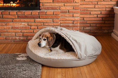 Snoozer Pet Products Cozy Cave Dog & Cat Bed, X-Large, Khaki - Chewy.com
