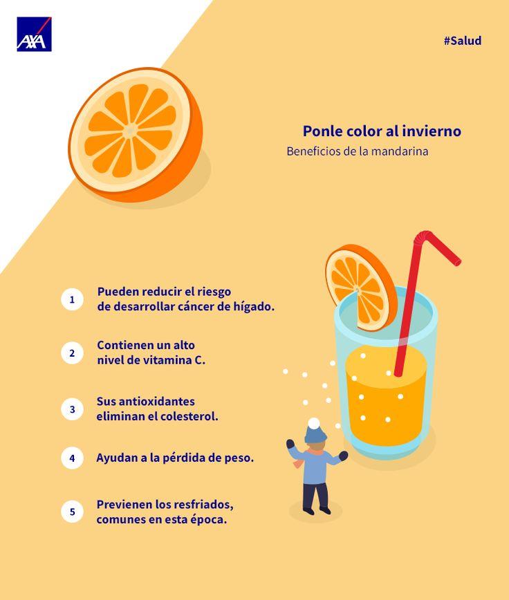 Además de deliciosa la mandarina tienen una serie de beneficios excelentes  para  tu la salud. Checalos!   ¿Ya la incluiste en tu dieta?