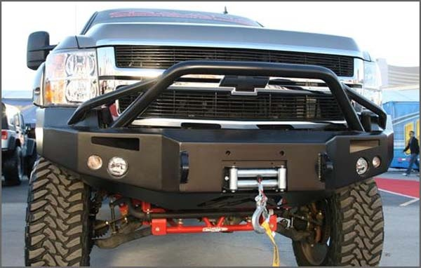 off road bumpers chevy 1500 | 2007.5-2010 Chevy Silverado Winch Off Road Bumper With Pre Runner ...