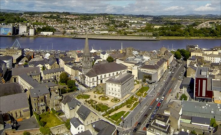 Aerial View of Waterford's Viking Triangle