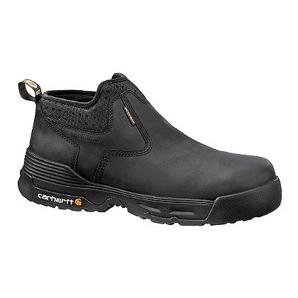 """Flexible, breathable, and comfortable, Carhartt's Men's 4"""" Waterproof Slip-On Shoes feel like running shoes while working like boots."""