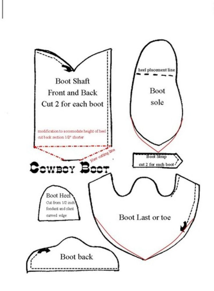 Cowboy Boot Template For Fondant Google Search Cakes