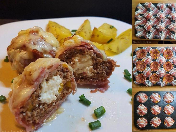 Hackfleisch-Muffins-Zubereitung