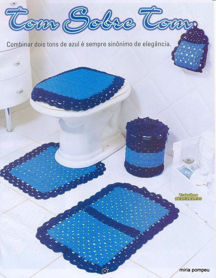 Juegos De Baño Regina:Set De Banos En Crochet