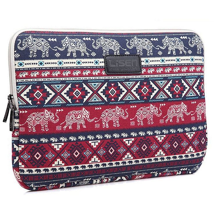 BRINCH 15 Inch Elephant Patterns Canvas Fabric Laptop Sleeve Case Bag Cover For Laptop / Notebook / Macbook / Ultrabook / Chromebook (Dell/HP/Lenovo/Sony/Toshiba/Ausa /Acer/Samsung ) (15.6 Inch)