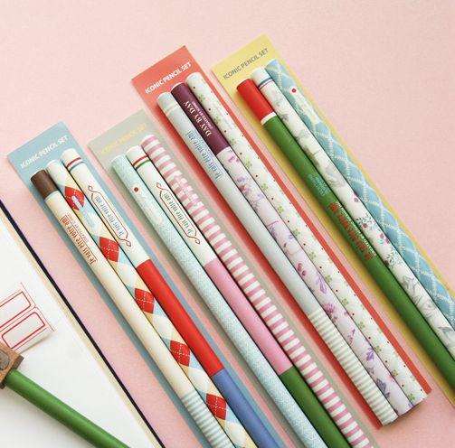 Retro Pencil Set