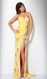 yellow prom dresses