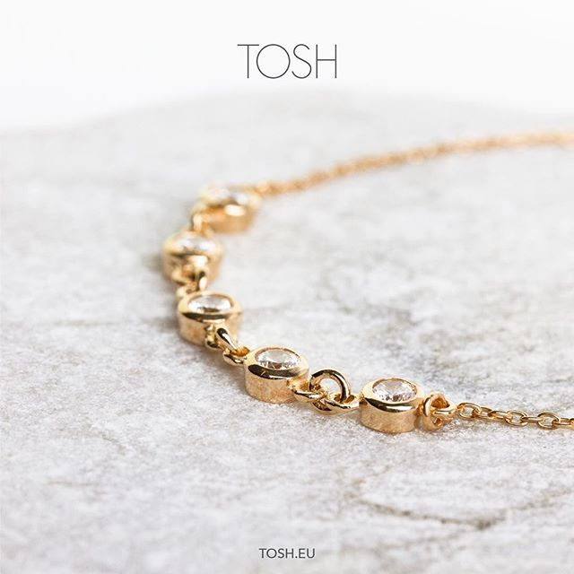 It's Tuesday and we're in love! ♥️​ Bracelet - 925 Silver - Gold plated with zirconia stones - 24,95 €  Find a store at www.tosh.eu  #thisistosh #tosh #toshshop #fashion #jewelry #inspiration #detail #fashionjewelry #bracelet #zirconia #goldplated #925silver