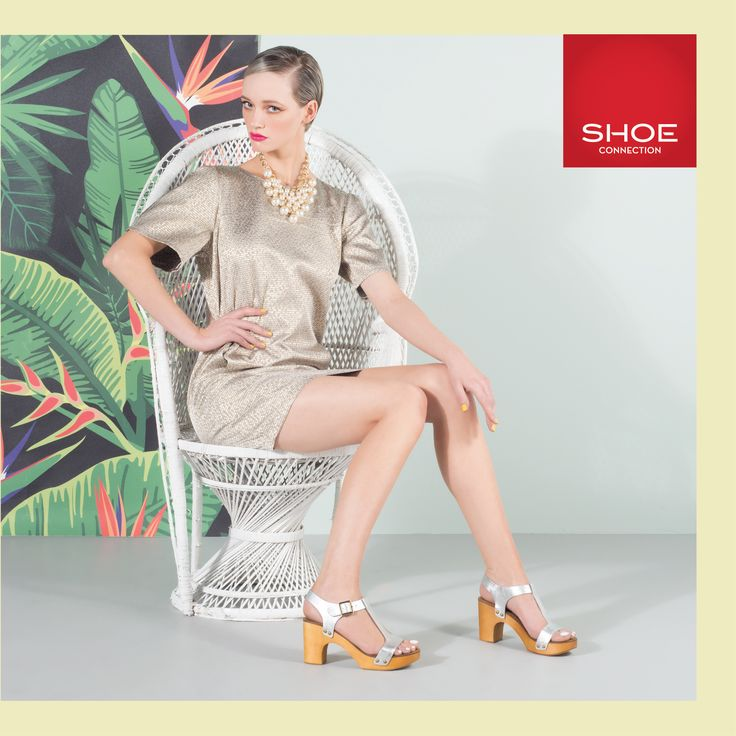 Shoe Connection Spring Summer 14/15 Campaign. Sandals - Tropical - Metallic Dress. Shop: http://www.shoeconnection.co.nz/